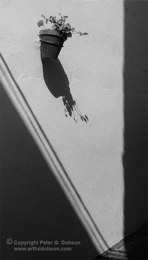 A composition of shadows and textures
