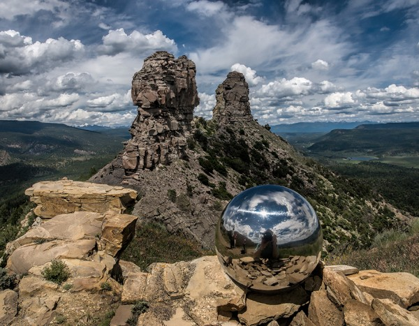 Gazing Ball at Chimney Rock, Colorado
